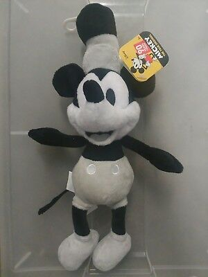 Authentic Disney Store Mickey Mouse/Steamboat Willie Plush - 90th Anniversary