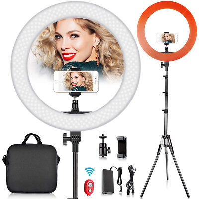 """18"""" SMD LED Ring Light Kit with Stand Dimmable 6200K for Makeup Phone Camera new"""