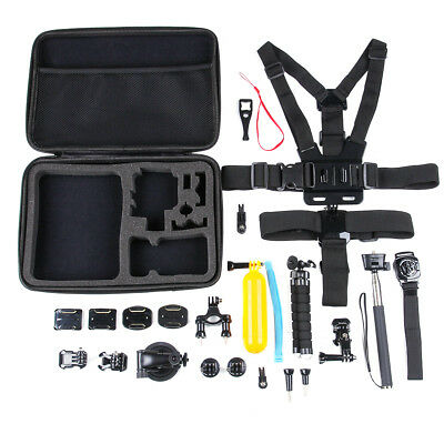 26 in1 Camera Head Chest Mount Monopod Accessories Kit For GoPro Hero 2 3 4 5 M