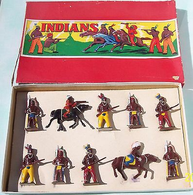 Japan Hollow Cast Lead Sonsco Indians Very Good Condition