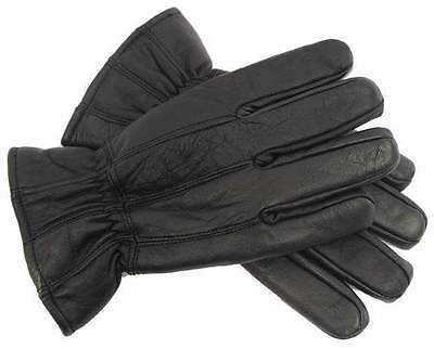 Real Leather Gloves Men's Genuine Sheep's Leather Lined M L/XL New