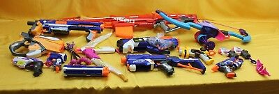 Large Job Lot of Nerf Guns and Bow and Arrows ##WBRWHT4JMH