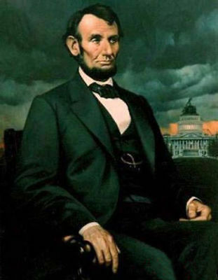 CHOP911 President the United States of America Lincoln oil painting art canvas