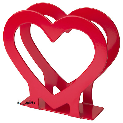 """Red Napkins Holder Valentine Day 5 1/4 x 2 x 5"""" NEW 504.035.32 Dyning Table Gift"""