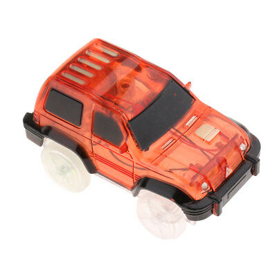 LED Light Up Car For Magic Track Electronic Cars Toy With Flashing Light