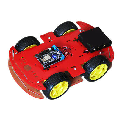 4WD DIY RC Smart Robot Car Chassis Kit w/ NodeMCU Motor Board For Arduino