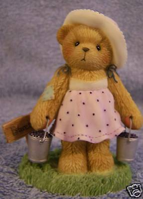 Leah~NIB~Member's Only Piece~Cherished Teddies SIGNED