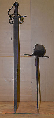 2 vintage French sword & Rapier collectible large & small fighting military lot