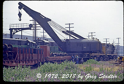 Northern Pacific / BN ALCO RS-11 #4190 & Derrick #X-11 @ Portland, OR (1972)
