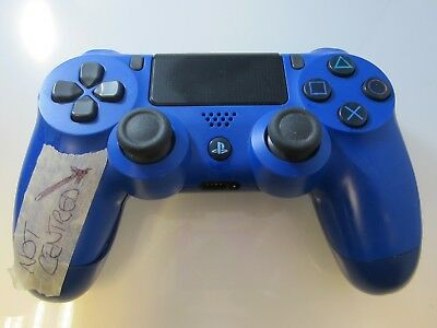 SONY Dualshock 4 V2 Wave Controller for PlayStation 4 - Blue - Faulty