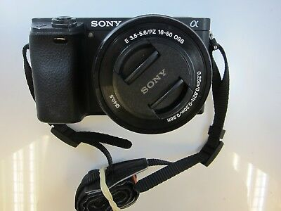 Sony A6300 24.2MP 4K HD Camera + 16-50mm PZ Lens - Excellent Condition