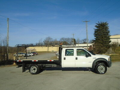 2007 Ford F450 4X4 4Dr Crew Cab Flatbed Truck
