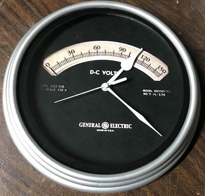 Vintage Voltmeter Wall Clock-Fair Shipping!