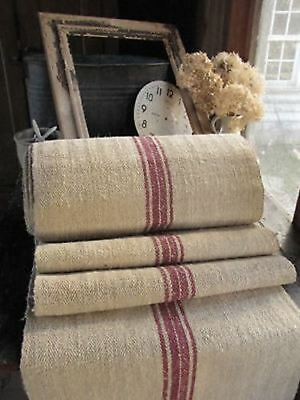 Per one yard length ~ antique hemp stair or table runner fabric 1 yard per