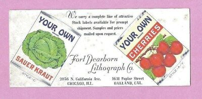 Vintage Ink Blotter from rural school teacher's desk: YOUR OWN canned foods 40's