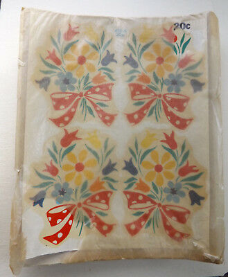 Vintage Meyercord Beauty Spot Decal Primary Color Bouquet New Old Stock