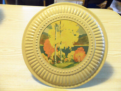 Country Scene Stovepipe Chimney FLUE COVER Metal Plate Fall Season Trees