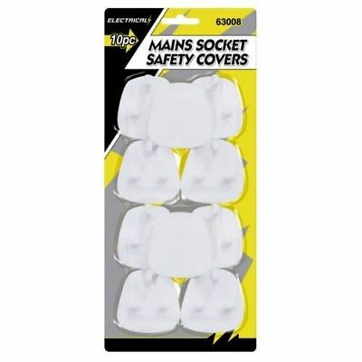 ELECTRICAL PLUG PROTECTOR SOCKET SAFETY COVERS CHILD BABY MAINS 10pk