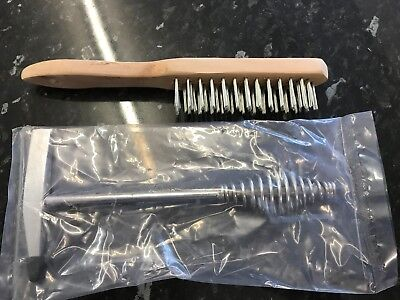 Wire Brush 4 Row & Spring Handled Chipping Hammer