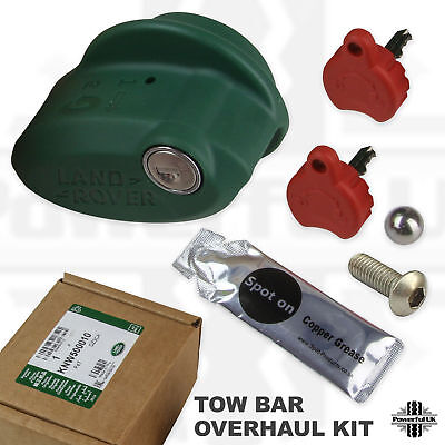 Removable Tow hook hitch overhaul kit for Discovery 3/4 bar ball towing lock key