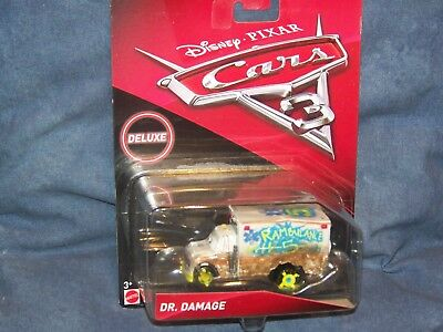 Rare Disney Pixar Cars 3 Dr Damage Serie Deluxe Demo Derby Thunder Hollow