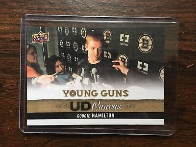 2013-2014 Ud Young Guns Canvas Dougie Hamilton Rookie Rc C92  Mint!!