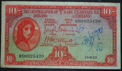 1945 Lady Laferty (Ireland) ten shilling (10/-) banknote see both images
