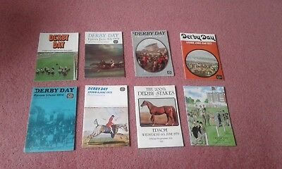 8 Derby Day Race Cards  !!! -  1968,69,70,71,72,73,79 & 1980 -