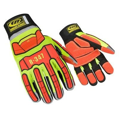 RINGERS 347 EXTRICATION TPR Protected Hi Vis Reflective Work Gloves Size  XS-3XL