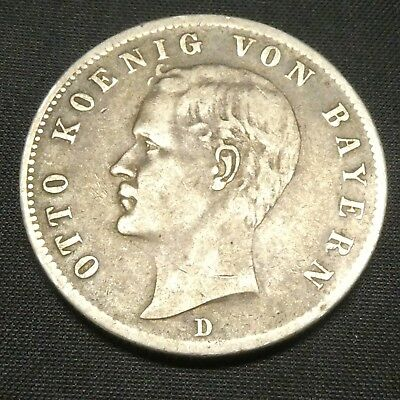 1899 D Germany Zwei Two Mark Silver Coin
