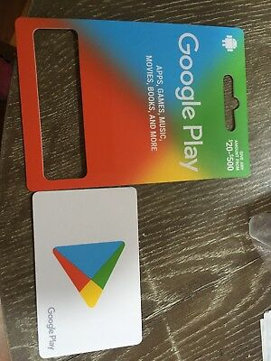 Google play cards 500$AU credit. 5 years expiration and issue on 12/01/2019.