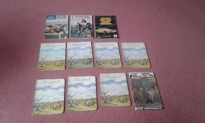 11 Grand National Race Cards  !!! -  1968,69,70,71,72,73,74,76,77,78,79,