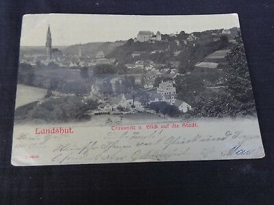 POSTCARD RPPC Germany Landshut panorama view Bavaria Early 1900's