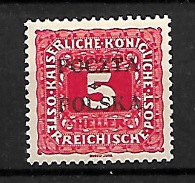 POLAND STAMPS 1919, Sc.#J1, POSTAGE DUE CRACOW ISSUE. MNH