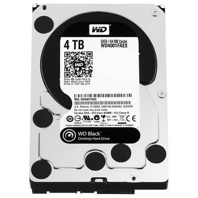4TB WD Black HDD 7200 RPM