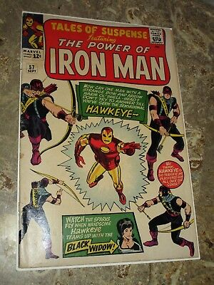 Marvel Tales of Suspense #57 1st First Appearance Of Hawkeye (Sept 1964) Key SA
