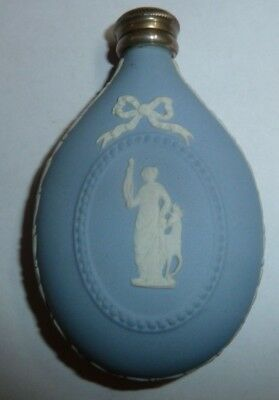 Wedgwood Jasper Ware Perfume Scent Bottle Silver Top With Funnel Diana