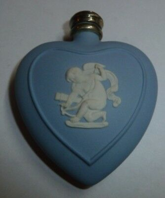 Wedgwood Jasper Ware Perfume Scent Bottle Silver Top With Funnel Cupid