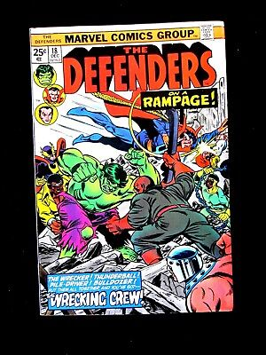 The Defenders #18. 1974.  Nm+ (9.6).  Wrecking Crew