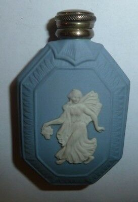 Wedgwood Jasper Ware Perfume Scent Bottle Silver Top With Funnel Flora