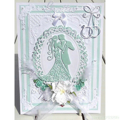 Romantic Dancing Lovers Wedding Cutting Dies For Scrapbooking Card Craft # Decor