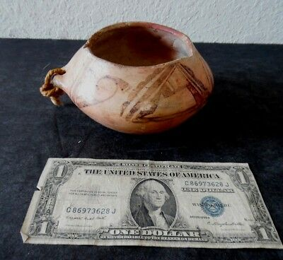 Early 20th Century Antique Hopi / Tewa Indian Pottery Pot Polychrome Jar