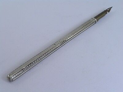Dip Pen Nib Travel Holder / Hallmark Silver Case / Vintage