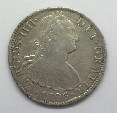 Mexico 1796-Mofm Silver 8 Reales  Choice About Uncirculated Km#109