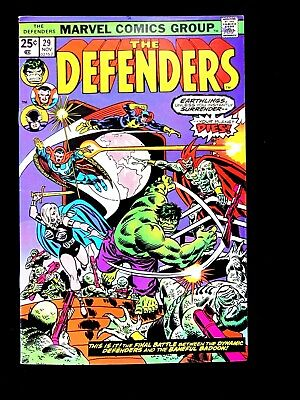 The Defenders #29. 1975. Very Fine/near Mint (9.0)
