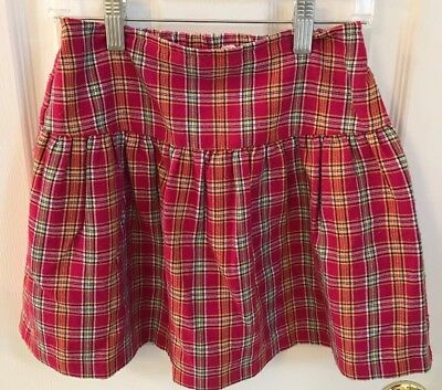 Pollilops Girls Plaid Skirt, size 7, pre-owned