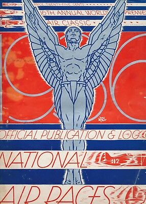 1936 Official Publication & Log, 16th Annual Air Races Souvenir Program, Advs.