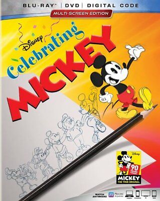 Celebrating Mickey Blu-ray/DVD/Slipcover 2018  Disney Animation Steamboat Willie