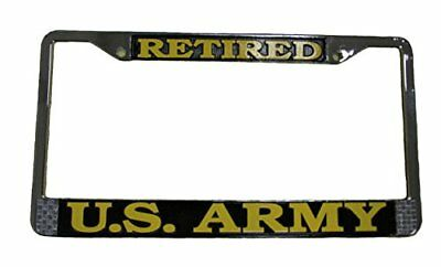 RETIRED//ARMY- Military License Plate FRAME ABS-#841126G