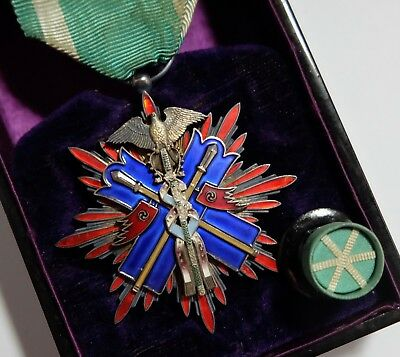 Nice! ORDER of GOLDEN KITE 5th CLASS BADGE JAPAN MEDAL JAPANESE SILVER ARMY NAVY